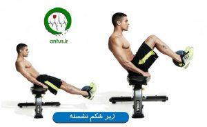 آموزش تصویری زیر شکم نشسته آموزش حرکات شکم چربی شکم لاغری