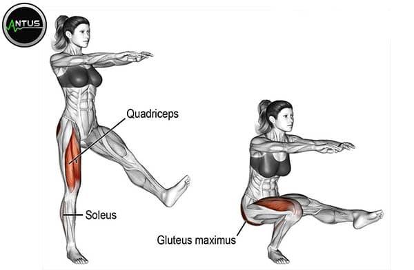 حرکت اسکات پیستول وزن بدن