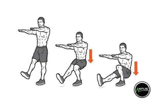 آموزش حرکت اسکات پیستول وزن بدن