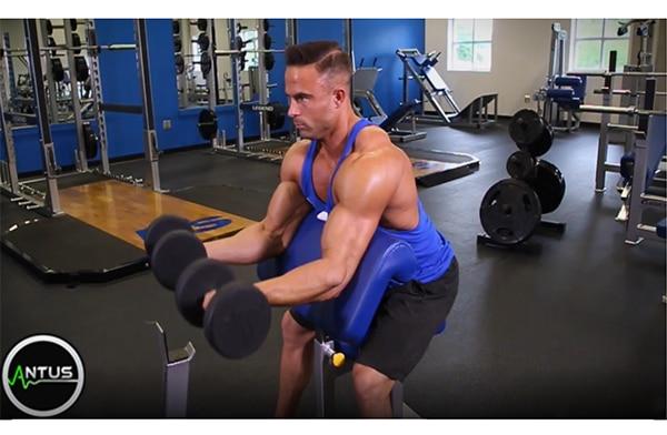آموزش جلو بازو دمبل لاری