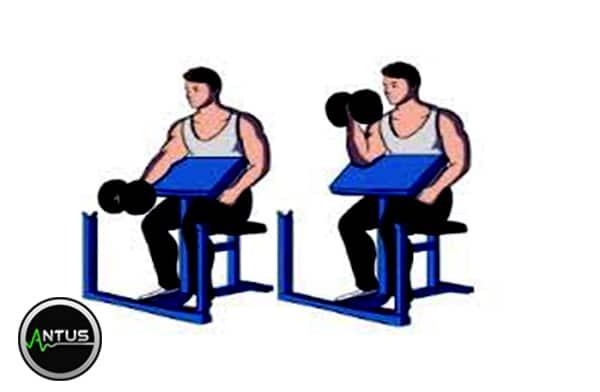 حرکت جلو بازو تک روی میز لاری